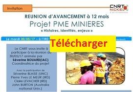 Télécharger : présentation de l'avancement des travaux du projet PME MINIERES « histoires, identités, enjeux »