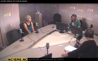 VISIONNER : Invitée à la Matinale Nc1ère radio – France Bailly, Directrice du CNRT