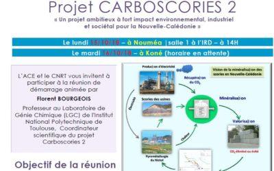 INVITATION à la REUNION DE DEMARRAGE du Projet CARBOSCORIES 2 le 15/10/2018 et le 16/10/18