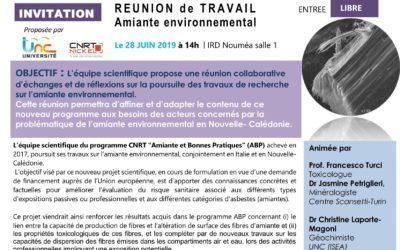 INVITATION : Réunion collaborative de travail autour de l'AMIANTE ENVIRONNEMENTAL
