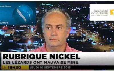 PRESSE : JT 19h30 NCTV 1ère  Hervé Jourdan (IRD) – le 10/09/2015