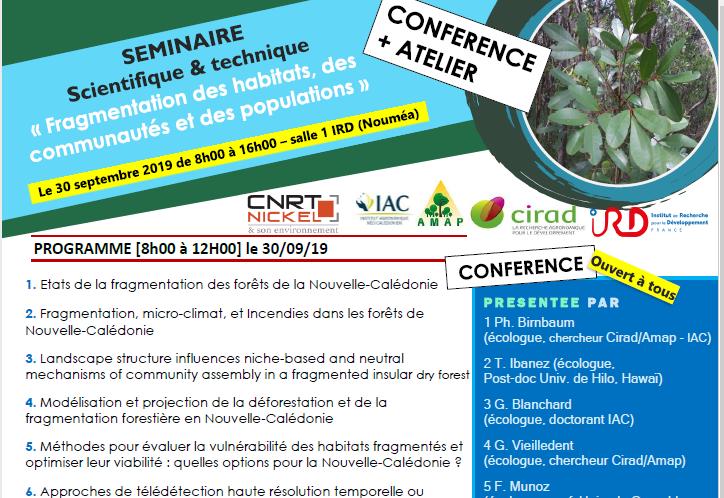 INVITATION au SEMINAIRE Fragmentation des habitats, des communautés et des populations – le 30 septembre 2019