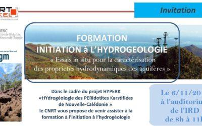Télécharger la Présentation de la formation «initiation à l'hydrogéologie» du 6/11/15