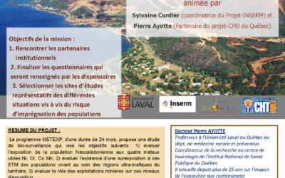 RESTITUTION : Présentation de la mission du Projet METEXPO – Le 27/11/15 à 10h à l'IRD