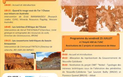PROGRAMME du SYMPOSIUM LATERITES  – Les 24 et 25/07/2014
