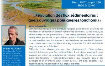 FORMATION «Régulation des flux sédimentaires : quels ouvrages pour quelles fonctions ?» le 21/04/17