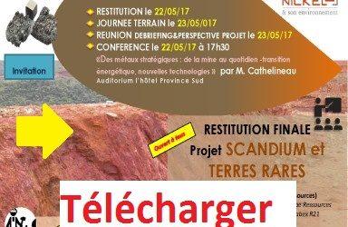 Télécharger : La présentation de la restitution finale du Projet SCANDIUM et TERRES RARES