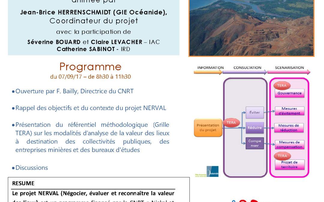INVITATION : Présentation du Référentiel Méthodologique de la Grille TERA le 7/09/2017