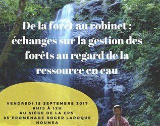 Invitation : présentation et échange sur le thème du lien fonctionnel entre gestion des eaux et gestion des forêts le vendredi 15 septembre