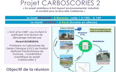 INVITATION à la REUNION DE DEMARRAGE du Projet CARBOSCORIES 2 le 15/10/2018 et le 16/10/18