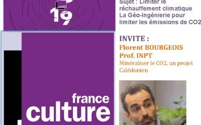 PRESSE RADIO : au micro de FRANCE CULTURE – Emission de 18H – Florent Bourgeois pour le projet CARBOSCORIES 10/10/18