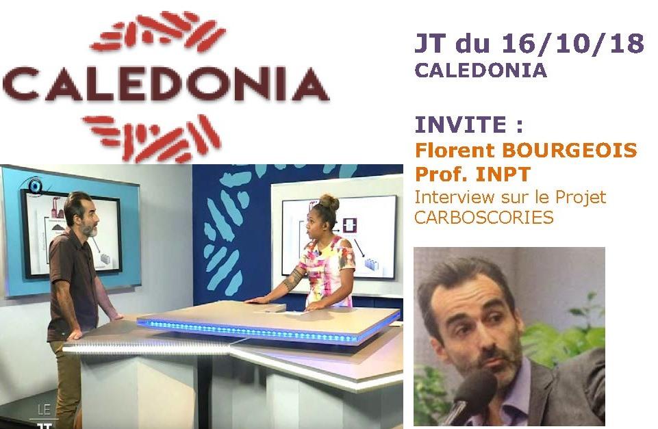 PRESSE TV : JT CALDONIA interview de Florent BOURGEOIS le 16/10/18