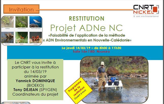 INVITATION à la RESTITUTION du Projet ADNe NC le 14/03/19