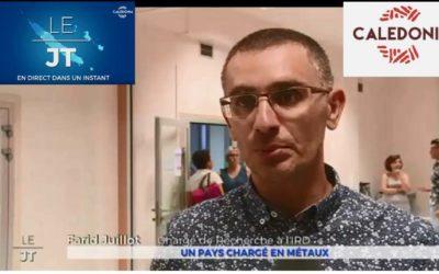 CNRT youtube :  CALEDONIA – JT 18H du 26/03/19 – Dispersion & exposition humaine aux métaux en NC [mars 2019]