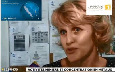 CNRT youtube :  FRANCE TV 1ère – JT 19H30 du 25/03/19 – Dispersion & exposition humaine aux métaux en NC [mars 2019]