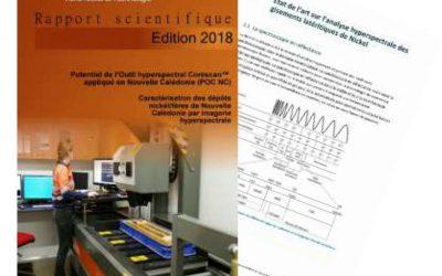 Rapport scientifique final des travaux de recherche issu du projet POC-NC, Potentiel de l'Outil hyperspectral Corescan (TM) – Edition 2018