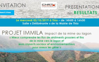 INVITATION Présentation des RESULTATS du projet IMMILA à THIO le 02/10/19