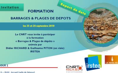 INVITATION FORMATION BARRAGES & PLAGES DE DEPOTS les 24 & 25 septembre 2019