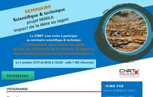 INVITATION au SEMINAIRE scientifique & technique IMMILA Impact de la mine au lagon