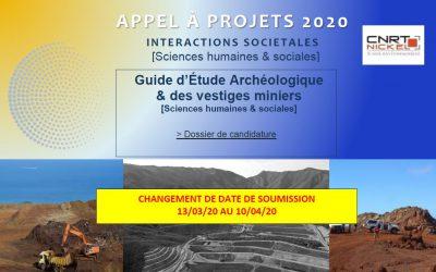 APPEL A PROJETS Guide d'étude archéologique & des vestiges miniers [13/03/2020-10/04/2020]