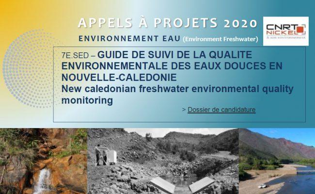 APPEL A PROJETS : GUIDE DE SUIVI DE LA QUALITE ENVIRONNEMENTALE DES EAUX DOUCES EN NOUVELLE-CALEDONIE | New caledonian freshwater environmental quality monitoring [18/03/2020-01/05/2020]