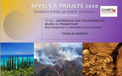 REPORT DE DATE /APPEL A PROJETS : DISPERSION DES POUSSIERES EN MILIEU ULTRAMAFIQUE | Dust dispersal in ultramafic environments [18/03/2020-29/05/2020]