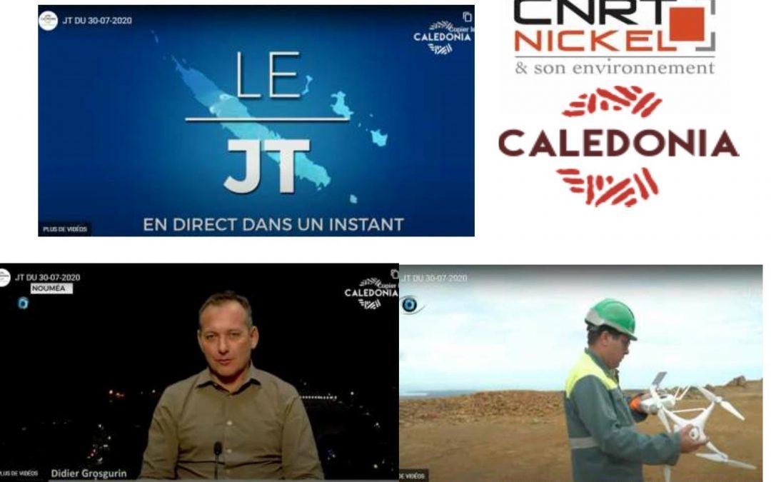 PRESSE : REPORTAGE DU PROJET CNRT MINE DU FUTUR SUR CALEDONIA [TV JT CALEDONIA du 30/07/2020]