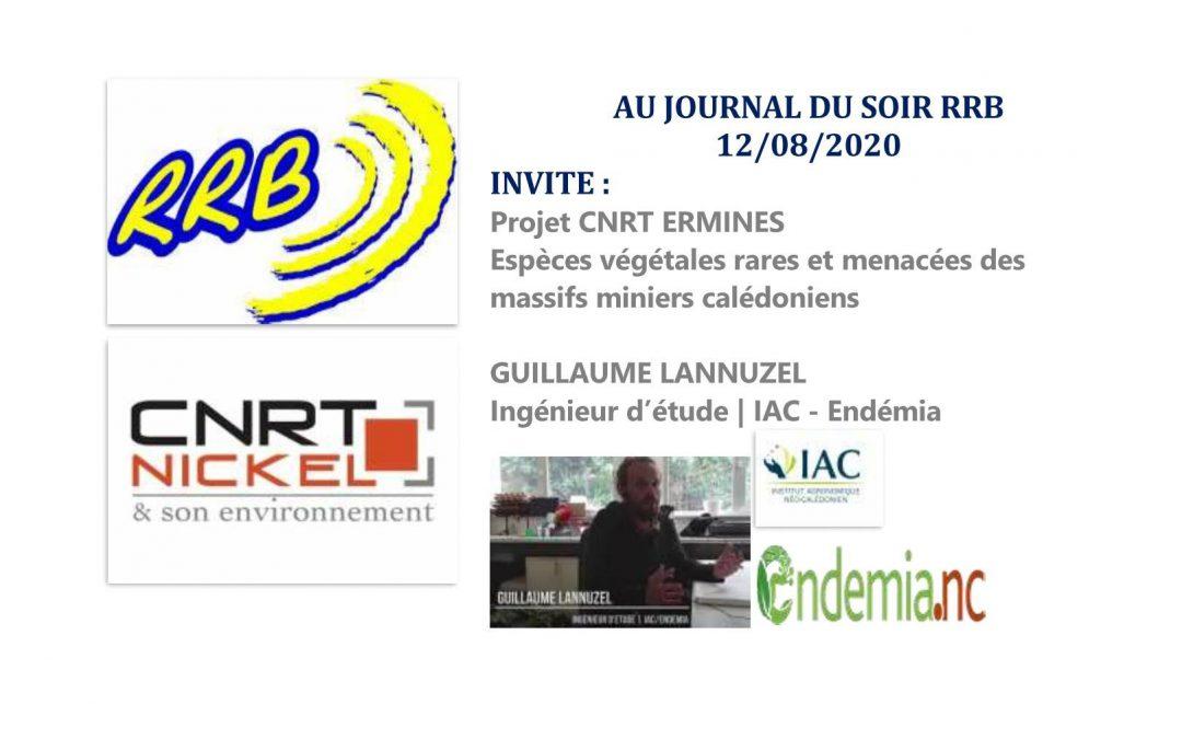PRESSE RADIO: PROJET CNRT ERMINES au micro de RRB [Radio RRB du 12/08/2020]