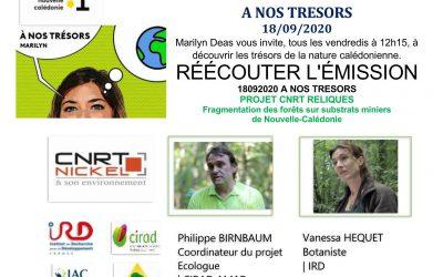 PRESSE : EMISSION RADIO NC 1ère A NOS TRESORS avec l'équipe du projet RELIQUES du 18/09/20]