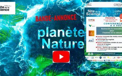 Bande-annonce INVITATION à la CONFERENCE à 4 VOIX «Recherche & innovation pour l'homme et la nature» Le jeudi 12/11/20 à 18h UNC Amphi 400 dans le cadre de la fête de la science