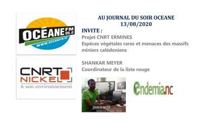 ECOUTER : EMISSION RADIO OCEANE au «Journal du soir» avec l'équipe du projet ERMINES du 13/08/20