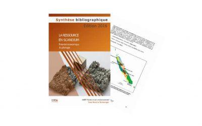 Synthèse bibliographique liée au Projet SCANDIUM Géochimie et minéralogie du scandium dans les latérites – potentiel économique et gîtologie