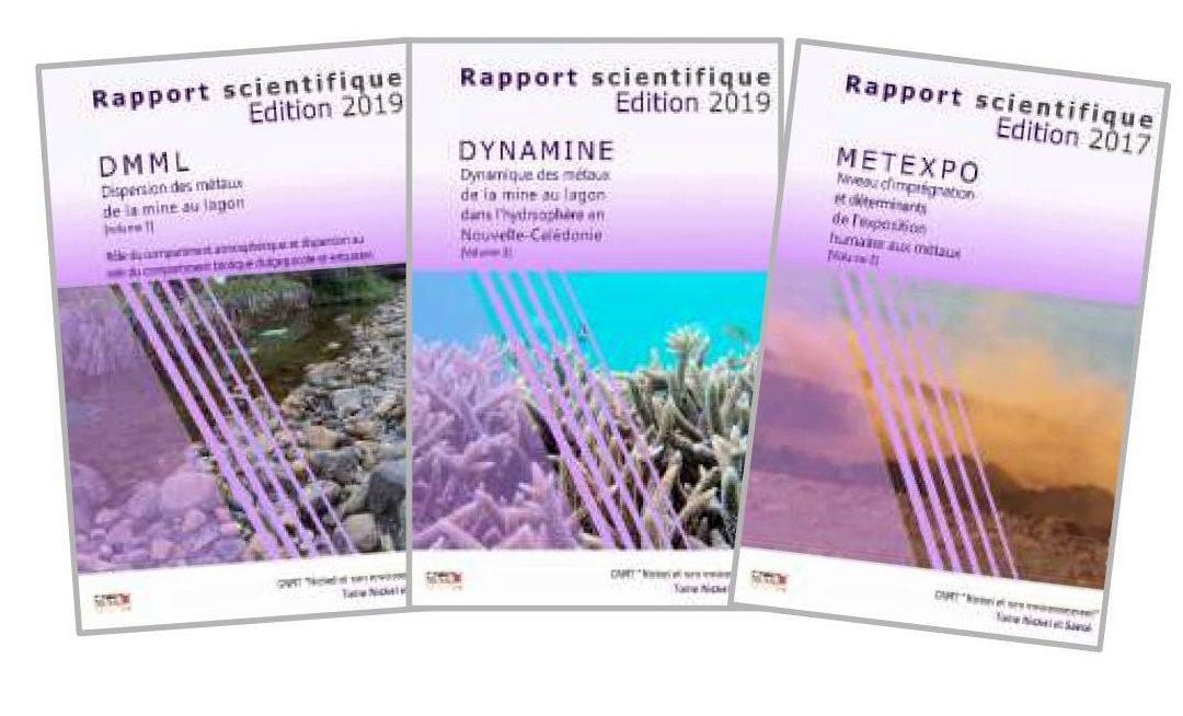 3 rapports scientifiques liés au programme intégré« Dispersion et exposition humaine aux métaux en Nouvelle-Calédonie » issus des 3 projets DMML-DYNAMINE-METEXPO – Edition 2017 & 2019