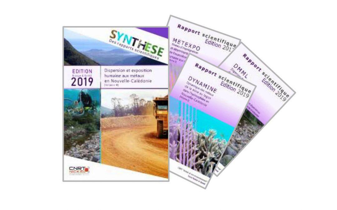 Synthèse scientifique des travaux du programme intégré« Dispersion et exposition humaine aux métaux en Nouvelle-Calédonie » issus des 3 projets DMML-DYNAMINE-METEXPO – Edition 2019