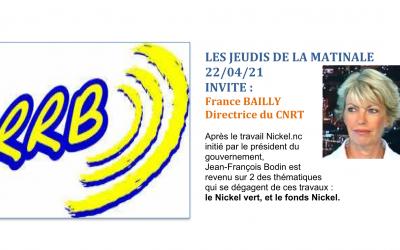 PRESSE RADIO: le dossier NC NICKEL au micro de RRB – Les jeudis de l'économie – [Radio RRB du 22/04/21]