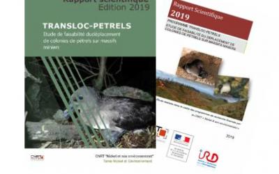 Rapport scientifique lié au Projet TRANSLOC-PETREL, Etude de faisabilité du déplacement de colonies de pétrels sur massifs miniers – Edition 2019